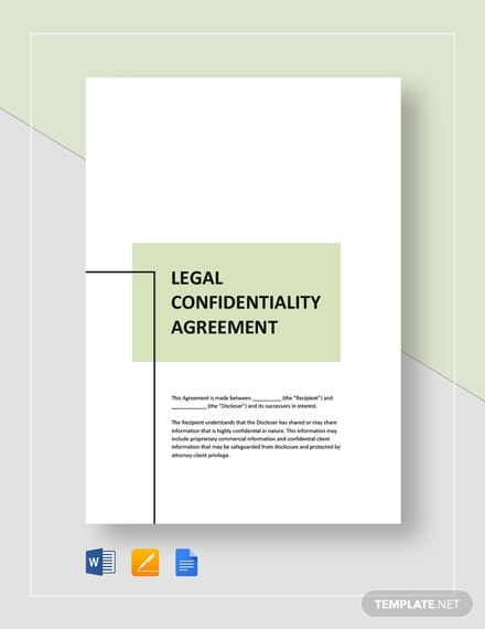 legal confidentiality agreement