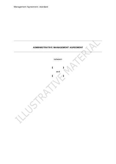 management agreement 01