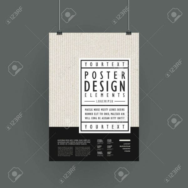 modern poster template design in simplicity style1