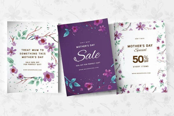 mothers day poster templates