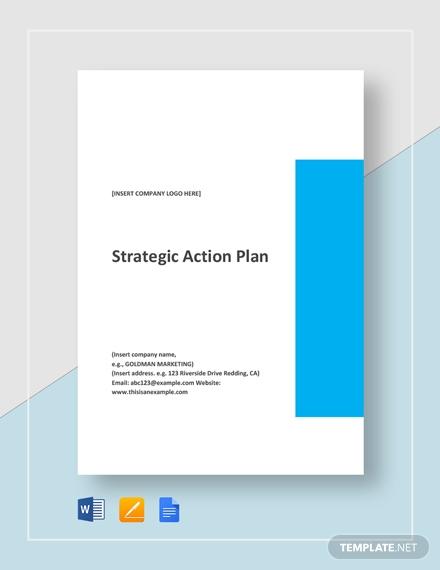 one page strategic plan