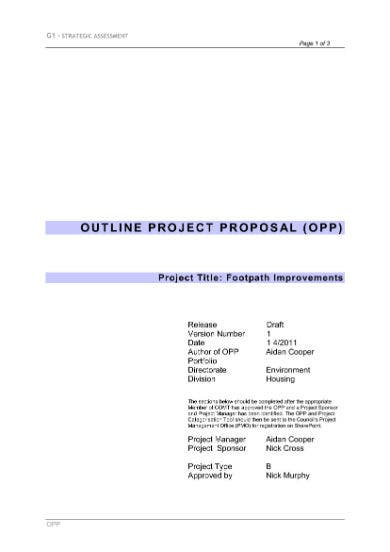 project proposal outline 1