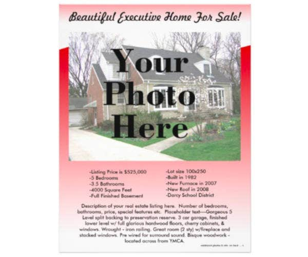 real estate listing flyer designs