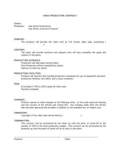 video contract 1