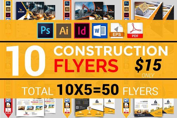 10 Construction Company Flyer Bundle
