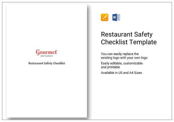 226 restaurant safety checklist 1