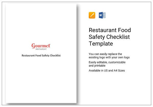 293 simple restaurant food safety checklist 01