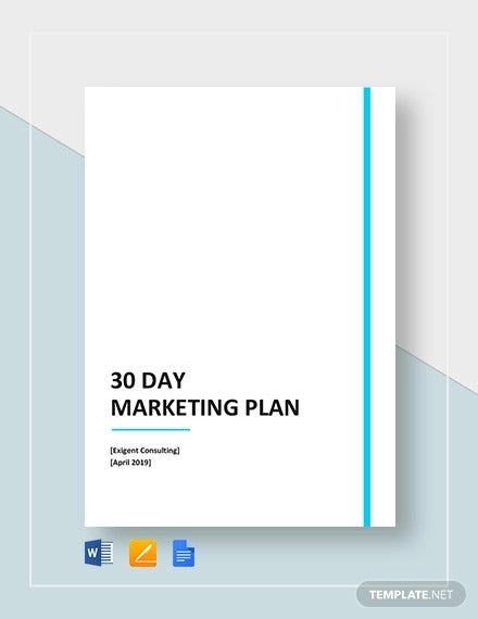 30 day marketing plan template