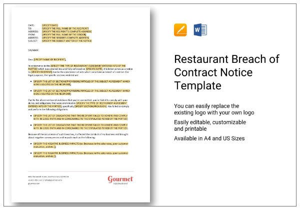 317 restaurant breach of contract notice 1