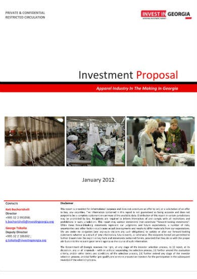 4 apparel sector study and investment proposal 01