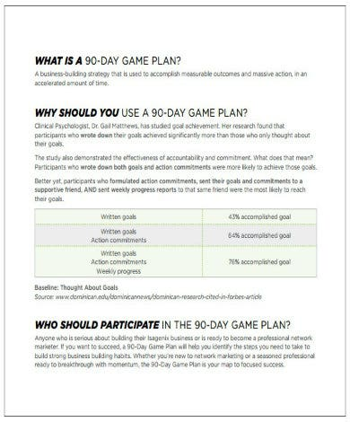 Sample 90 Day Plan Templates - Google Docs, MS Word, Pages, PDF