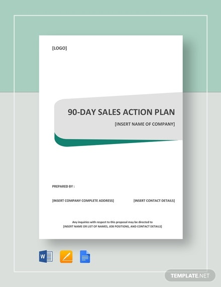 90 day sales action plan