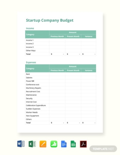 a ready made simple budget template