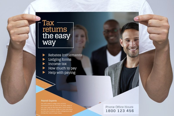 a3 financial poster template