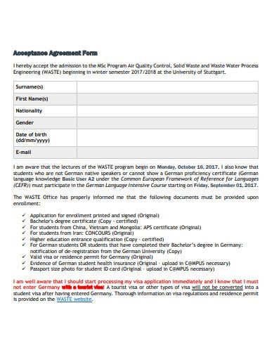 acceptance agreement in pdf
