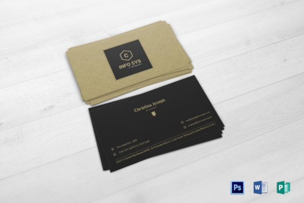 accountant business card template