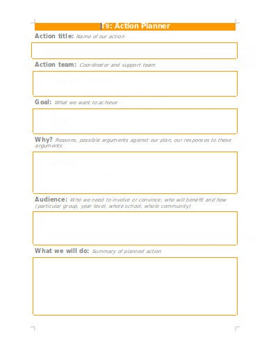 action planner in doc