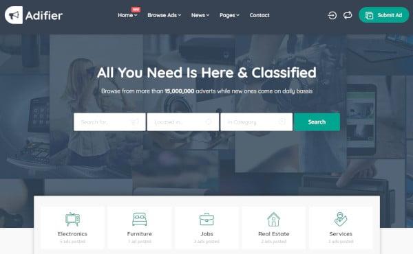 adifier – social media wordpress theme