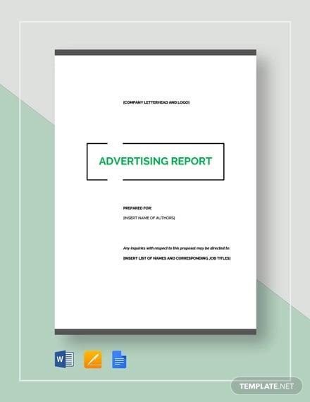 advertising report template