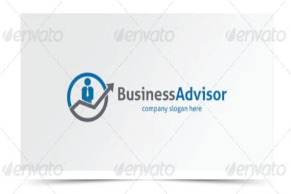 advisor financial logo template