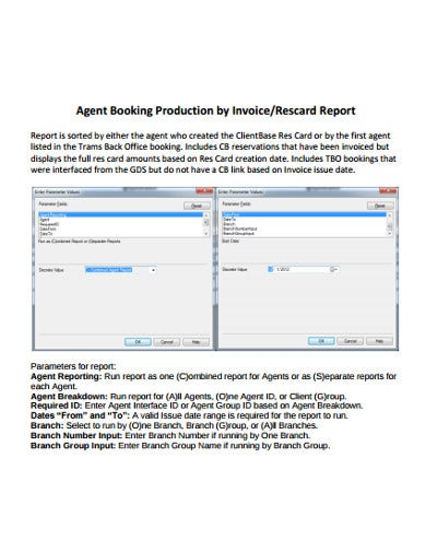 agent production invoice template