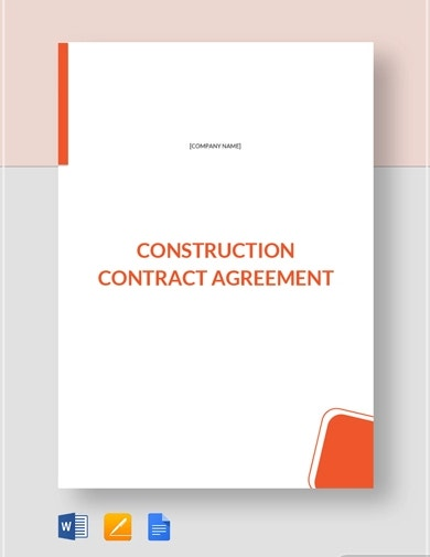 agreement construction contract template