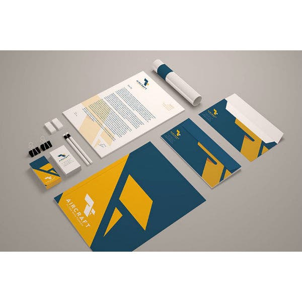 aircraft identity stationery samples