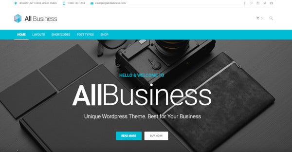 all business woocommerce integrated wordpress theme