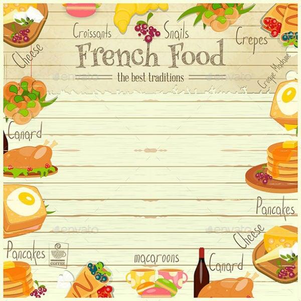 animated french food menu