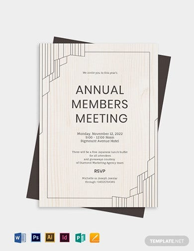 annual meeting invitation template