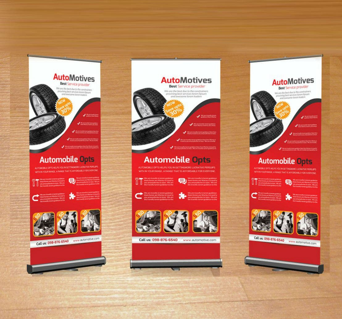 Automotive Car Business Roll-Up Banner