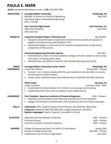 14  college student resume templates in word