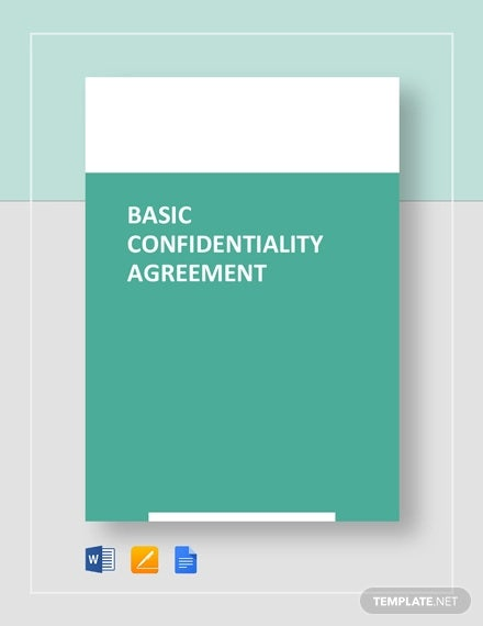 basic confidentiality agreement template1