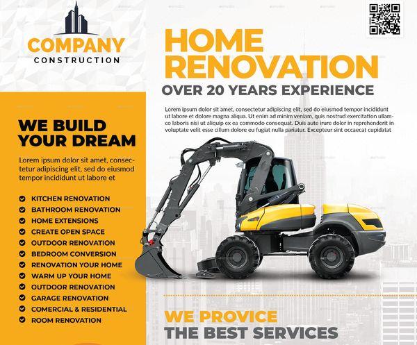 Basic Construction Company Flyer