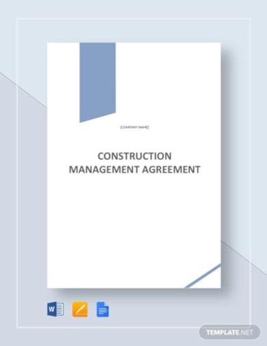 basic construction management agreement template