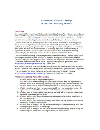 basic consulting assessment example