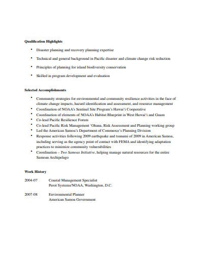 basic consulting resume template