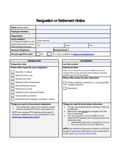 basic format of resignation notice