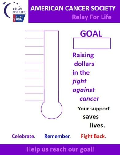 basic fundraiser chart template