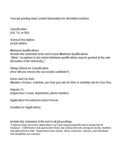 basic job posting template