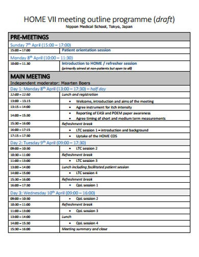 basic meeting outline example