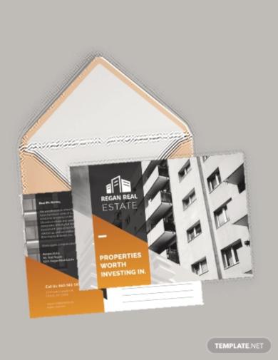 basic real estate advertising postcard template