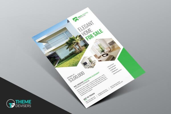 basic real estate business flyer template