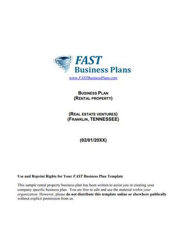 basic real estate property proposal template