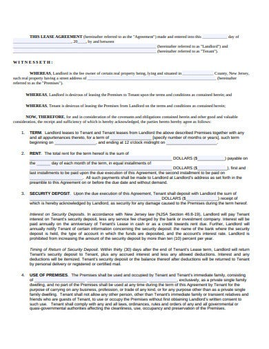 basic residential lease agreement fromat