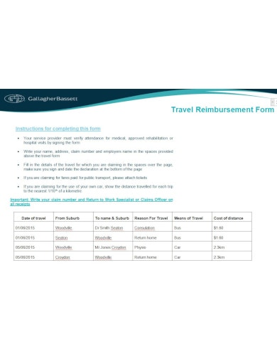 basic travel reimbursement form2