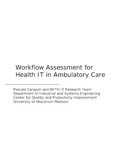 basic workflow assessment template