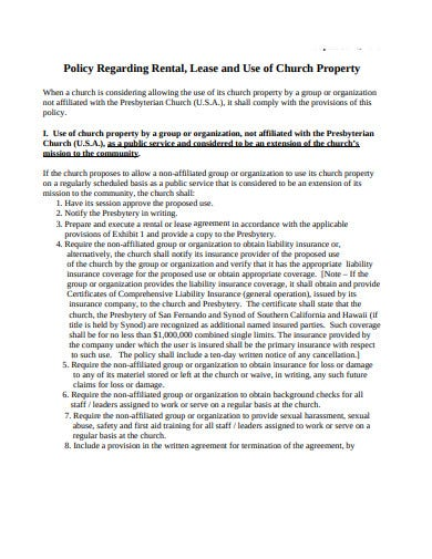 basic church lease agreement format