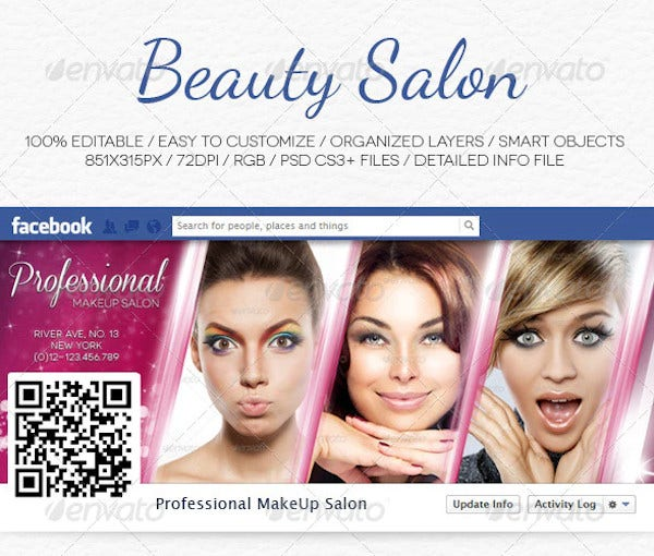 beauty salon facebook timeline