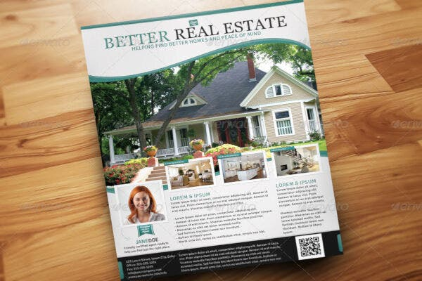 best real estate flyer template